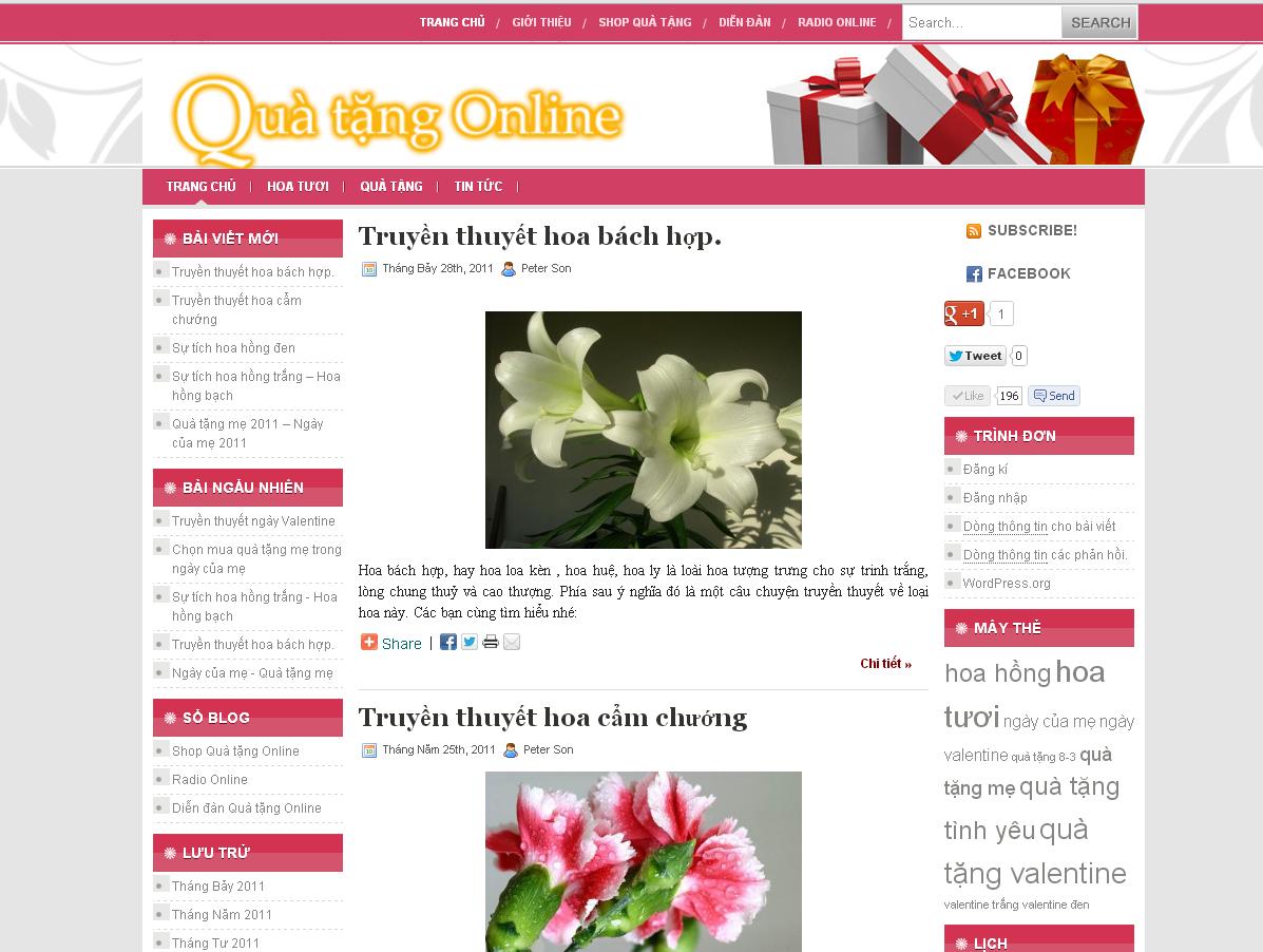 Gift - Flower Website